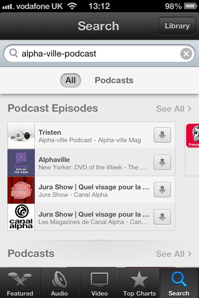 Alpha-ville Podcast on itunes